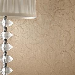 Superfresco - Golden Leaf Scroll wallpaper