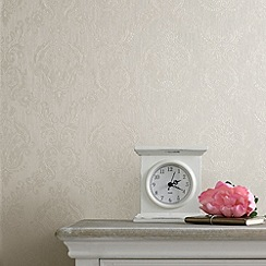 Superfresco - Cream Shimmer Damask wallpaper