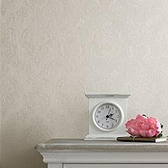 Superfresco - Cream Shimmer Damask wallpaper