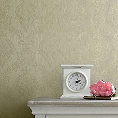 Superfresco - Green Shimmer Damask wallpaper