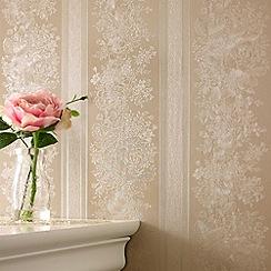 Superfresco - Golden Floral Stripe wallpaper