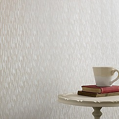 Superfresco - White Shimmer Silken Stria wallpaper