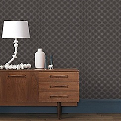 Graham & Brown - Brown & Grey Geometric Circles Wallpaper