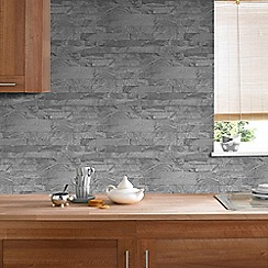 Superfresco Easy - Grey Slate Brick design Wallpaper