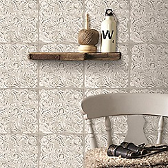 Superfresco Easy - Beige NY Inspired Tile Paste the Wall Wallpaper