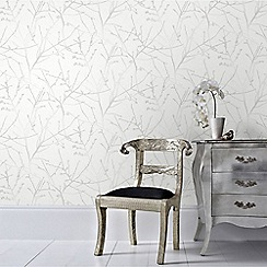 Superfresco Easy - White Mica Innocence Twig Wallpaper