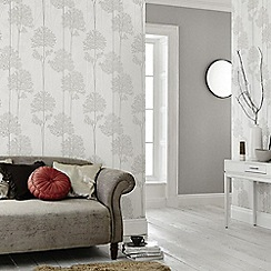 Superfresco Easy - White Mica Etrenal Forest Wallpaper