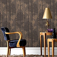 Superfresco Easy - Chocolate & Bronze Eternal Forest Wallpaper