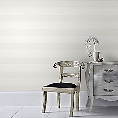 Superfresco Easy - Cream Calico Stripe Wallpaper