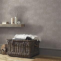Superfresco Easy - Taupe Aura Sprig Motif Wallpaper