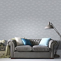 Superfresco Easy - Blue Aura Sprig Motif Wallpaper