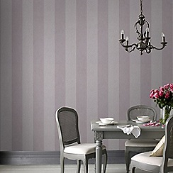 Graham & Brown - Light Purple Artisan Stripe Wallpaper