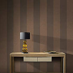 Graham & Brown - Copper Artisan Stripe Wallpaper