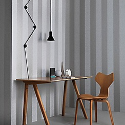 Graham & Brown - Silver Artisan Stripe Wallpaper