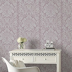 Graham & Brown - Light Purple Gloriana Damask Wallpaper