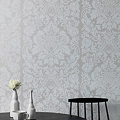 Graham & Brown - Pearl Gloriana Damask Wallpaper