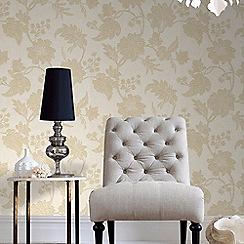 Graham & Brown - Cream Mystique Floral Wallpaper