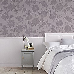 Graham & Brown - Light Purple Mystique Floral Wallpaper
