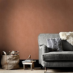 Graham & Brown - Copper Tranquil Plain Wallpaper