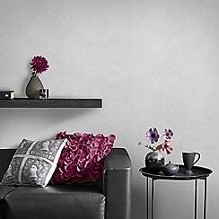Graham & Brown - Silver Tranquil Plain Wallpaper