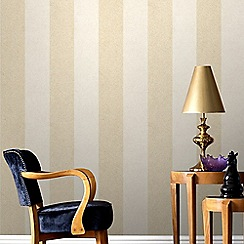 Graham & Brown - Cream Artisan Stripe Wallpaper