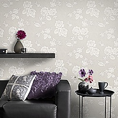 Superfresco Easy - Taupe New England Rose Paste The Wall Wallpaper