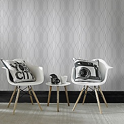 Superfresco Easy - Silver Manhattan Paste The Wall Geometric Wallpaper