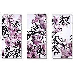 Monsoon Home - Set of three Kyoto cherry blossom wall art