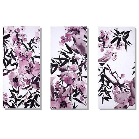 Monsoon Home - Set of three Kyoto cherry blossom wall art
