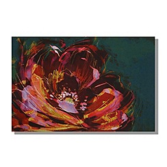 Monsoon Home - Printed canvas Peony wall art