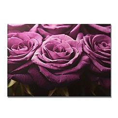 Graham & Brown - Plum Roses row printed canvas wall art