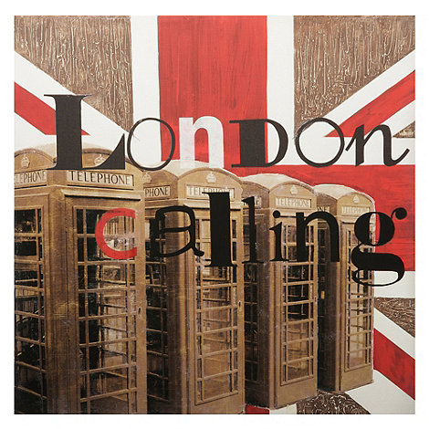 Graham & Brown - Hand painted canvas London calling wall art