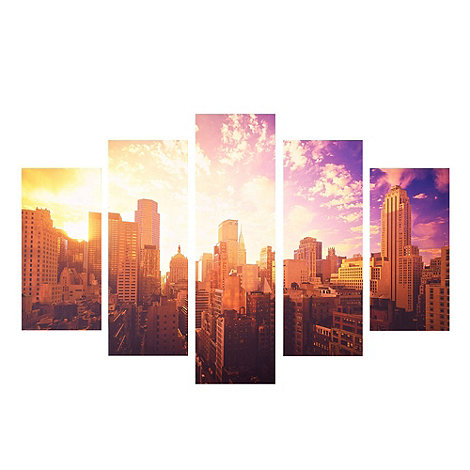 Graham & Brown - Printed canvas Good morning New York wall art