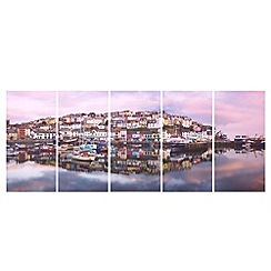 Graham & Brown - Printed canvas Brixham Harbour wall art