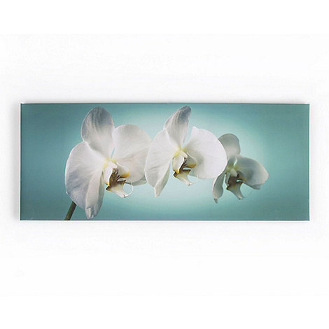 Graham & Brown - Teal Orchid printed canvas wall art