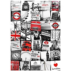 Graham & Brown - Printed canvas London montage wall art