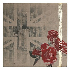Kelly Hoppen - Printed canvas Union rose wall art