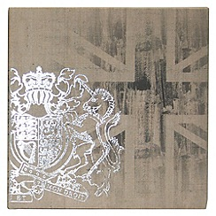 Kelly Hoppen - Printed canvas Coat of arms wall art