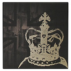Kelly Hoppen - Printed canvas The coronation wall art