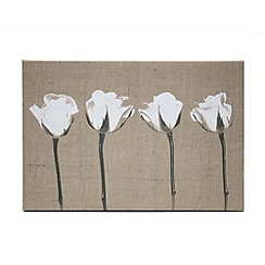 Kelly Hoppen - Printed canvas English petels wall art