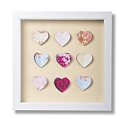 Graham & Brown - Framed Hearts corsage wall art