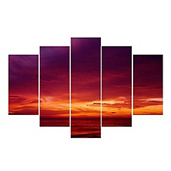 Graham & Brown - Multicoloured Drama Sunset Wall Art