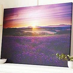 Graham & Brown - Purple lavender sunset wall art