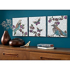Monsoon Home - Multicoloured Monsoon Birds Wall Art