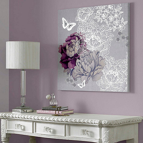 Monsoon Home - Multicoloured Monsoon Floral Metallic Wall Art