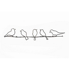 Graham & Brown - Metallic Birds on a Wire Wall Art