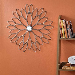 Graham & Brown - Metallic Flower Wall Art