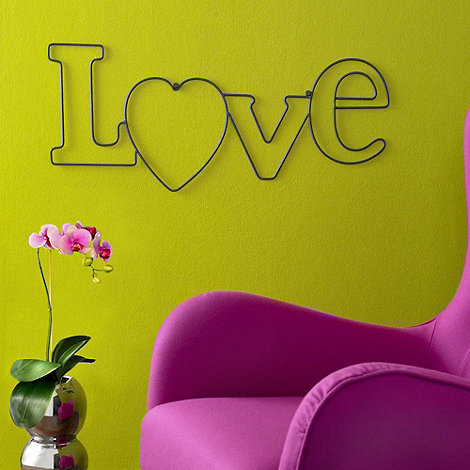 Graham & Brown - Metallic Love Wall Art
