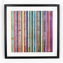 Graham & Brown - Yellow neon stripe wall art