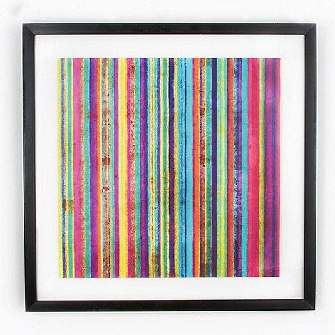 Graham & Brown - Yellow neon stripe wall art